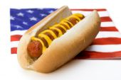Hot Dog And Flag