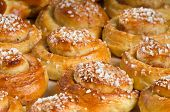 Freshly baked sweet buns
