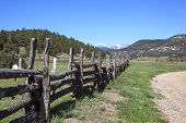 Tercio Valley Cemetery With Classic Wooden Fence