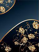 gold Rose Background