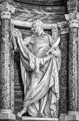 Statue of St.  Bartholomew at the Basilica of St. John Lateran in Rome. Please look at my images of the other saints from this church.