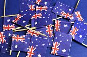 Australian Flags Background