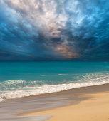 Beach on the Ionian island of Lefkas Greece