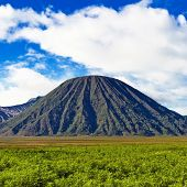 Volcano Against Blue Sky
