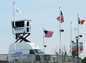 NYPD Sky Watch platform placed near National Tennis Center during US Open 2013
