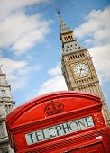 Red Telephon Box And Big Ben