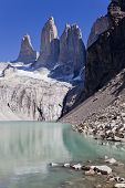 Torres Del Paine Peak On A Clear Day.