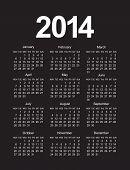 Simple 2014 Calendar