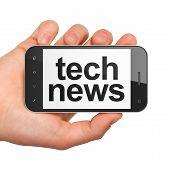 News concept: Tech News on smartphone