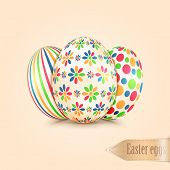 Easter Eggs With Colorful Patterns
