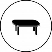 four leg table symbol