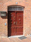 Red Brown Door