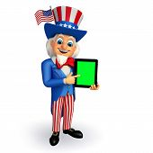 Illustration of Uncle Sam with Tab