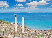 Tharros Shore With Clouds