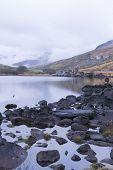 Llynnau Mymbyr Lake, Capel Curig, Wales, UK