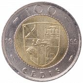 100 Ghana Cedis (second Cedi) Coin, 1999, Back