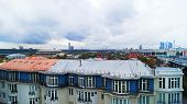 View On Moscow City On A Cloudy Day