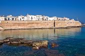 Fortified wall of Monopoli. Puglia. Southern Italy.