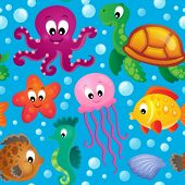 Seamless background sea theme 2 - eps10 vector illustration.