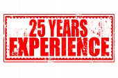 25 Years Experience Stamp