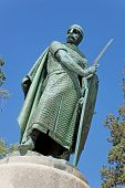 picture of dom  - Statue of King Dom Afonso Henriques by the Sacred Hill in the city of Guimaraes - JPG