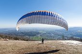 paraglider take-off