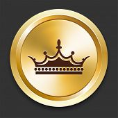 Crown Icons on Gold Button Collection