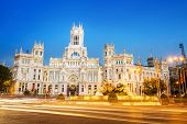 foto of old post office  - Plaza de la Cibeles  - JPG