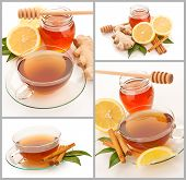 Hot Tea With Cinnamon, Honey And Ginger