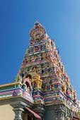 Facade Of A Hindu Temple In Victoria, Seychelles