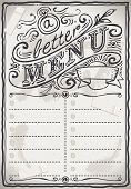 Vintage Graphic Page Menu For Restaurant