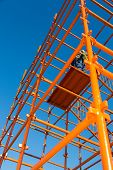 Scaffolding Pipes And Blue Sky