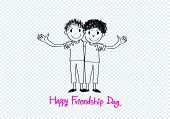 Happy Friendship day background Best Friends Forever.