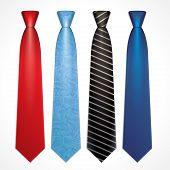 Vector set of colorful neckties