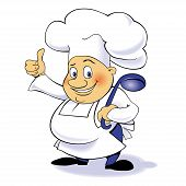 Vector cartoon character chef