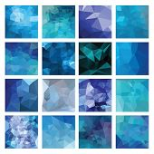 stock photo of polygons  - Abstract Geometric backgrounds - JPG