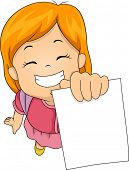 Illustration of a Little Girl Happily Showing Her Test Paper
