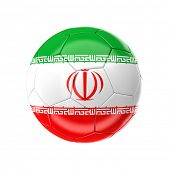 3d soccer ball with iran flag