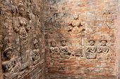 image of hindu temple  - Architectural details from Prasat Kravan in Siem Reap - JPG
