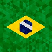 Waving fabric flag of Brazil