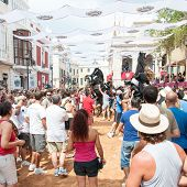 City of Mahon, Menorca, Spain - September 8: Fiestas de La Mare de Deu de Gracia festival
