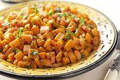 Moroccan carrot salad close up