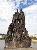 Statue Of Saints Cyril And Methodius On Charles Bridge