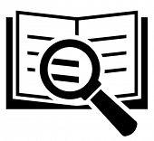 Book search vector icon