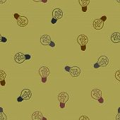 seamless background: brain, lightbulb