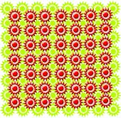 texture from red and green figures