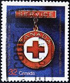 CANADA - CIRCA 1984: A stamp printed in Canada commemorating the anniversary of the Canadian