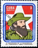 A Stamp printed in Cuba devoted 15 years of disappearance of Comandante Camilo Cienfuegos