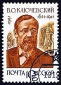 Postage Stamp Russia 1991 Vasily Osipovich Klyuchevsky, Historian