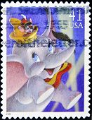 UNITED STATES OF AMERICA - CIRCA 2007: A stamp printed in USA shows Dumbo circa 2007